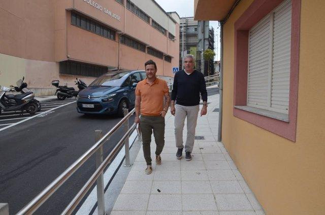 Fuentes-Pila visita las escaleras de Vista Alegre