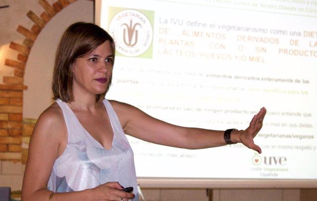 Griselda Herrero en los cursos de verano de la UPO
