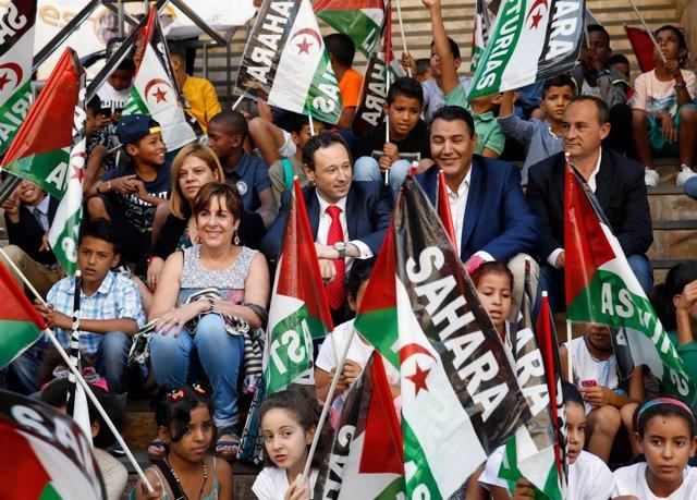 Recepción niños saharauis VAcaciones en paz