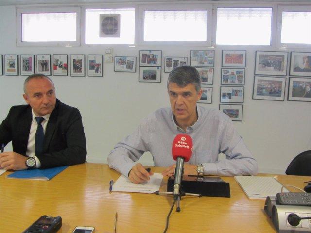 Claudí Martí, president del Club Natació Sabadell (CNS)