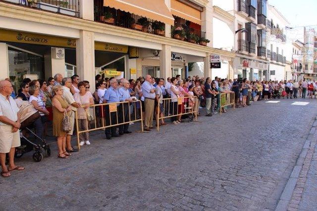 Concentración frente al Ayuntamiento de Montilla