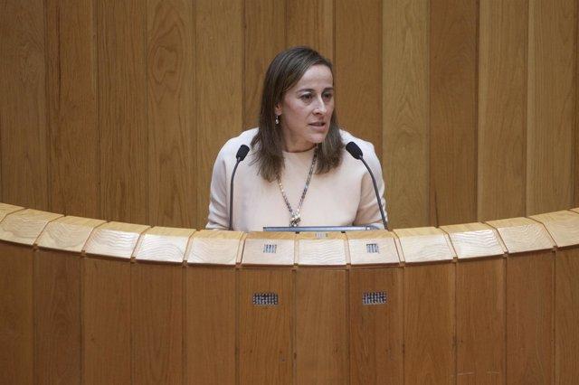 La conselleira de Infraestruturas, Ethel Vázquez, comparece en el Parlamento