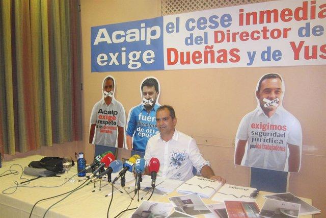 El presidente nacional de ACAIP, José Luis Pascual