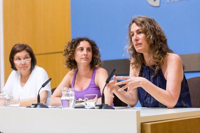 Pilar Maldonado, Arantza Gracia y María José Cubría