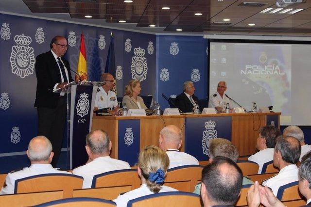 El director de la Policía en un acto en el Complejo de Canillas de Madrid