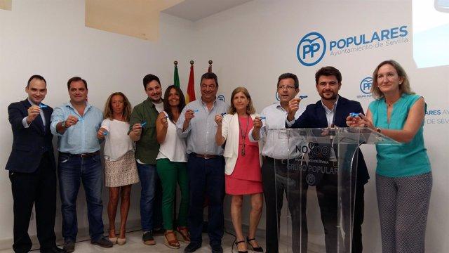 Rueda de prensa de los populares de Sevilla