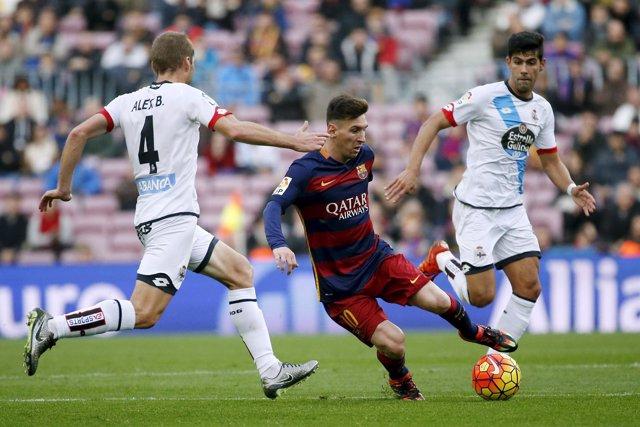 Leo Messi  Álex Bergantiños Juanfran