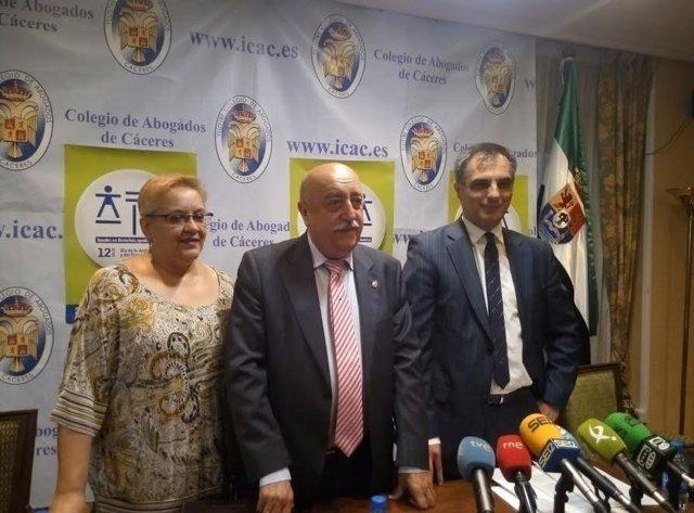 Presentación del VI Día de la Justicia Gratuita y el Turno de Oficio en Cáceres
