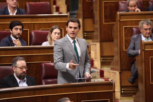 Albert Rivera durante la sesión de control al Gobierno en el Congreso