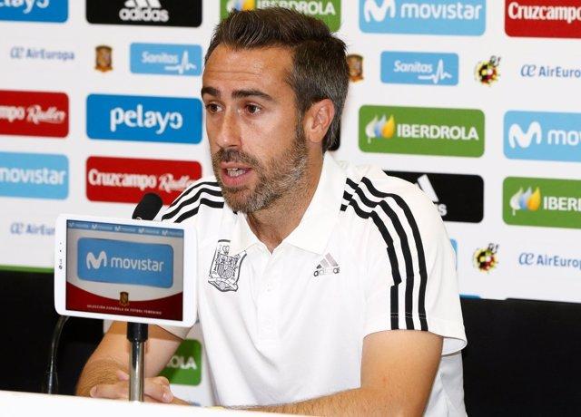 Jorge Vilda en rueda de prensa