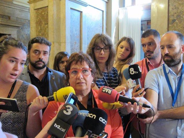 La consellera D.Bassa y el secretario F.Iglesias en una foto de archivo