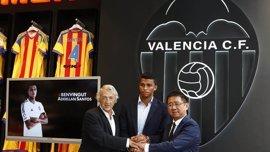 El Valencia cede al brasileño Aderlan Santos al Sao Paulo