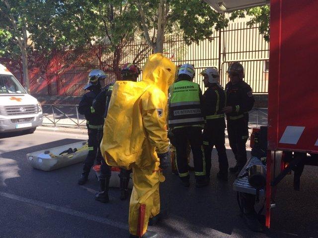 Equipo NBQ de los Bomberos de la Comunidad de Madrid