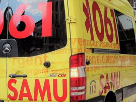 Un hombre de unos 45 años, en estado crítico tras un accidente de tráfico en Ibiza