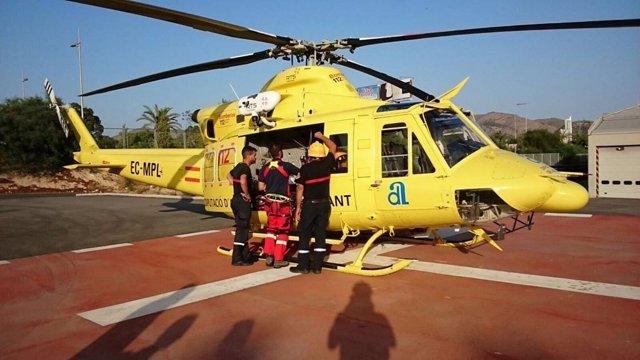 Helicóptero Alfa 1 del Consorcio Provincial de Bomberos de Alicante