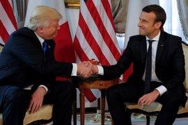 """Trump considera """"muy positiva"""" su relación con Macron, con quien se verá de nuevo esta semana"""