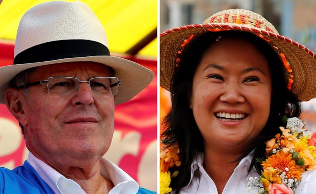 Pedro Pablo Kuczynski y Keiko Fujimori