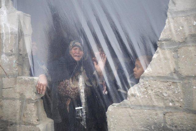 Casa en ruinas en Jan Yunis, en la Franja de Gaza