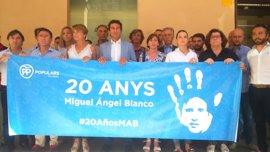 """El PP balear recuerda a Miquel Ángel Blanco y el """"espíritu de Ermua"""" en el 20 aniversario de su asesinato"""