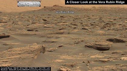 El rover Curiosity en Marte estudia un destino científico crucial