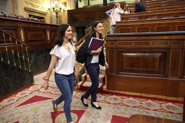 Ione Belarra e Irene Montero, de Podemos