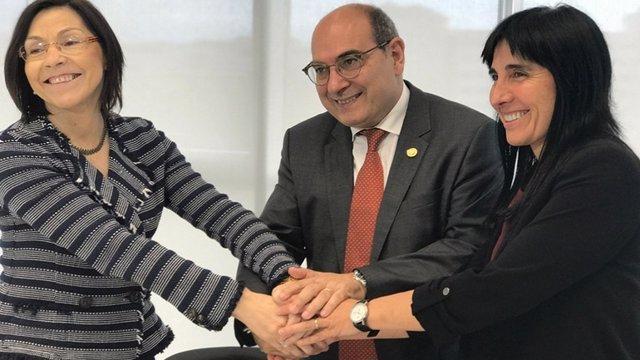 Firma del convenio de Bioaraba