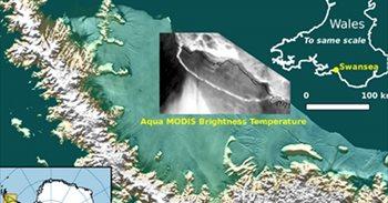 A68, uno de los mayores icebergs de la historia, se separa de la Antártida