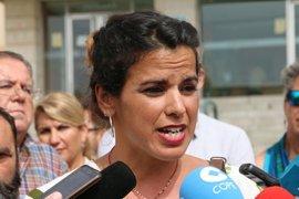 "Teresa Rodríguez critica que se proponga un trasvase a Doñana mientras ""se siguen permitiendo pozos ilegales"""
