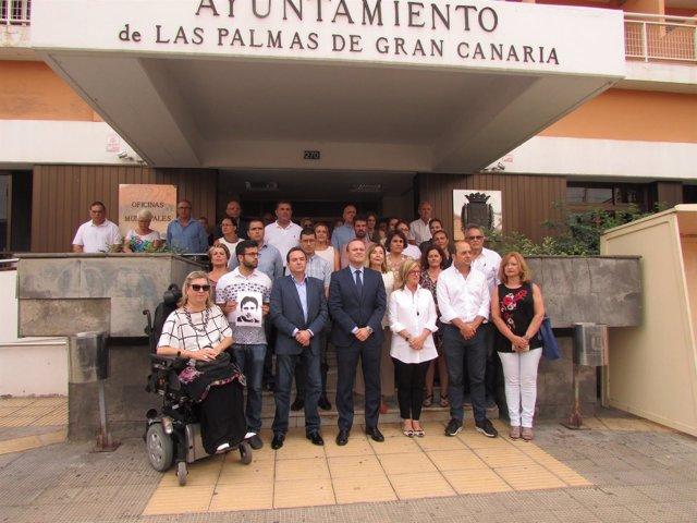 Minuto de silencio en Las Palmas de Gran Canaria