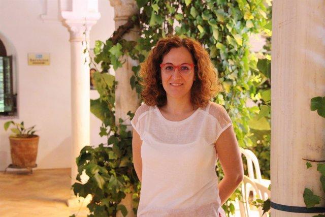 La secretaria general de CCOO-A, Nuria López, en los cursos de verano de la UPO