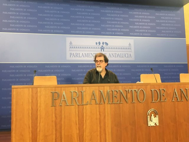 El presidente del grupo parlamentario de Podemos Andalucía, Jesús Romero