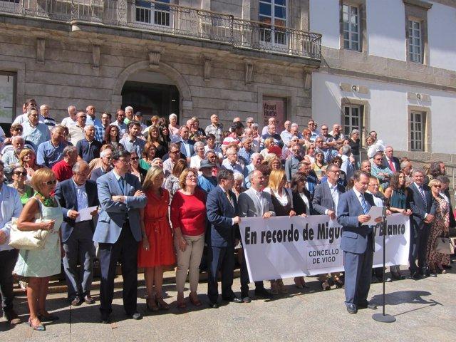 Concentración en Vigo en el aniversario de la muerte de Miguel Ángel Blanco.