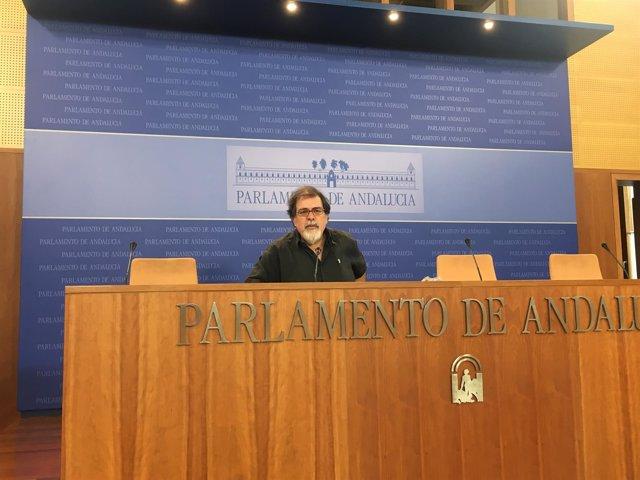 El presidente del grupo parlamentario de la formación morada, Jesús Romero