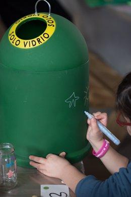 Contenedor reciclaje vidrio