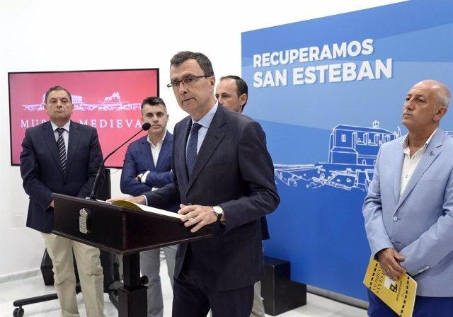 El alcalde de Murcia en la presentación