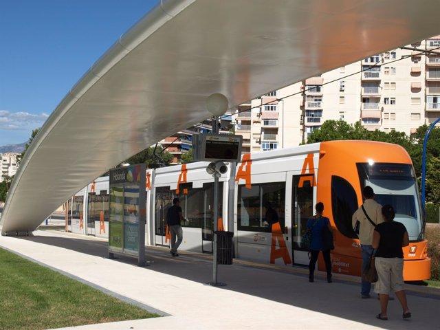TRAM de Alicante en imagen de archivo