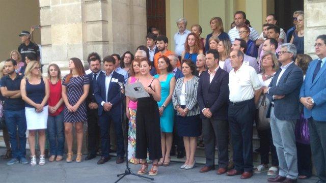 Acto en Plaza Nueva en memoria de Miguel Ángel Blanco