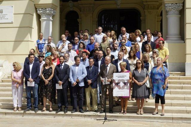 Homenaje miguel ángel blanco málaga ayuntamiento alcalde