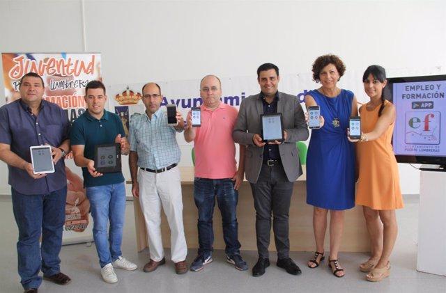 Foto/ Presentación De La Nueva Aplicación Móvil Para La Búsqueda De Empleo En Pu