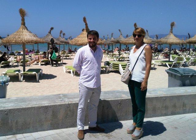 Marga Durán y Javier Bonet en Playa de Palma