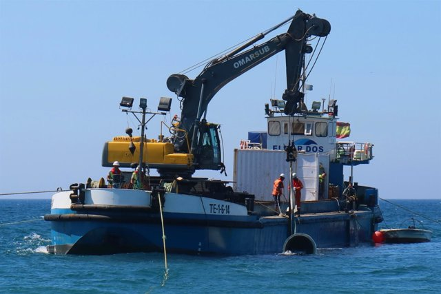 El Ayuntamiento De Málaga Informa: Concluye La Reparación Del Emisario Submarino