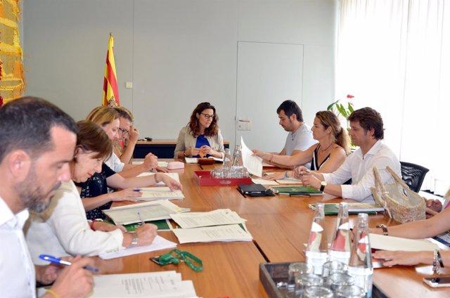 Reunión entre miembros de los consistorios de Rubí, Sant Cugat y Cerdanyola