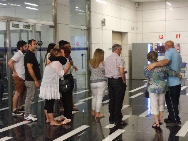 La familia materna de Julen tras conocer el veredicto.