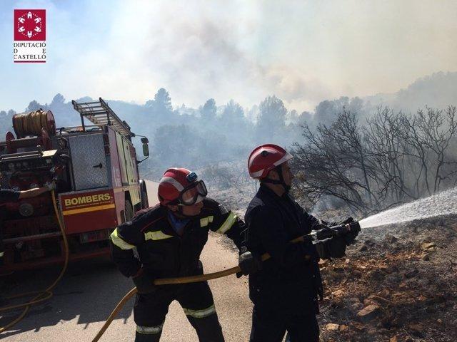 Incendio en Vall d'Alba