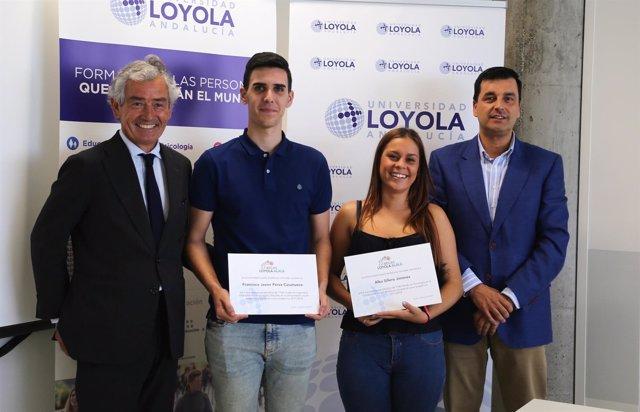 Dos estudiantes becados para estudiar en la Universidad Loyola Andalucía