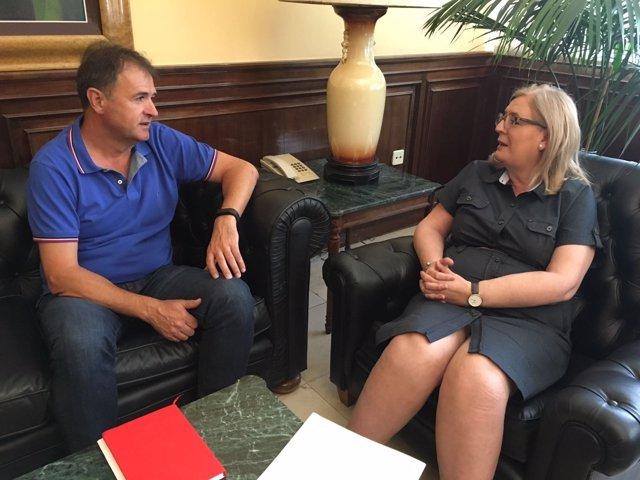 Reunión entre Blas Alves y Francisca Molina