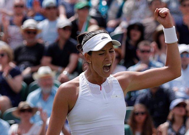 Tennis - Wimbledon - London, Britain - July 10, 2017   Spain's Garbine Muguruza