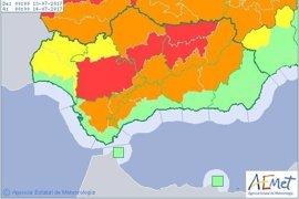 Avisos con nivel rojo en Sevilla, Jaén y Córdoba por altas temperaturas