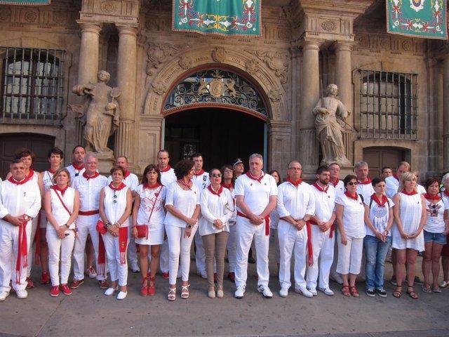 Concentración en recuerdo de Miguel Ángel Blanco en Pamplona