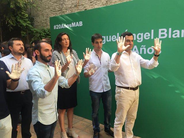 Juanma Moreno, en un acto de homenaje a Miguel Ángel Blanco
